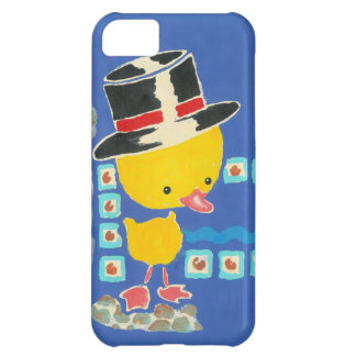 Yellow Boy Duckling with Top Hat Painting Case For iPhone 5C