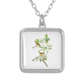 Yellow-breasted Warbler John Audubon Birds America Square Pendant Necklace