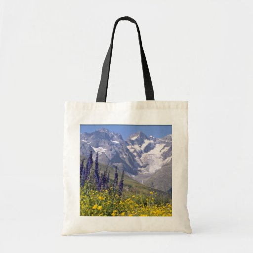 yellow Briancon, France flowers Budget Tote Bag