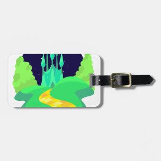 yellow brick road bag tag