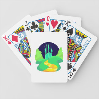 yellow brick road bicycle playing cards