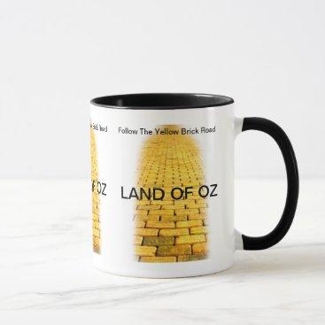 Coffee Themed Yellow Brick Road Coffee Mug
