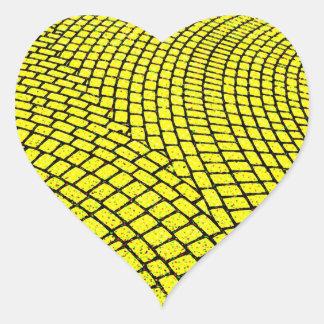 Yellow Brick Road Heart Sticker