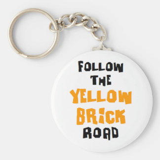 yellow brick road keychain
