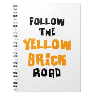 yellow brick road notebook