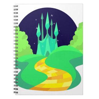 yellow brick road spiral notebook