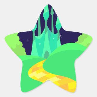 yellow brick road star sticker