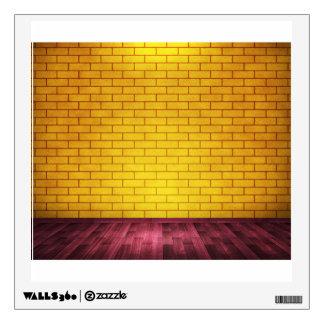 Yellow Brick Wall Wall Decal