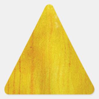 YELLOW BRIGHT fun ink pattern Triangle Sticker