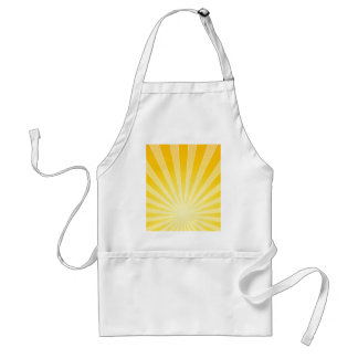 Yellow Bright Light Beams Adult Apron