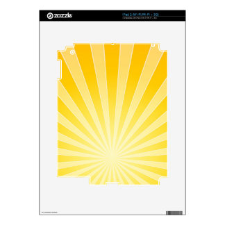 Yellow Bright Light Beams Skins For iPad 2