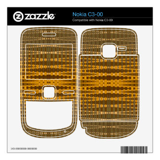 Yellow Bronze line pattern Nokia C3-00 Decal