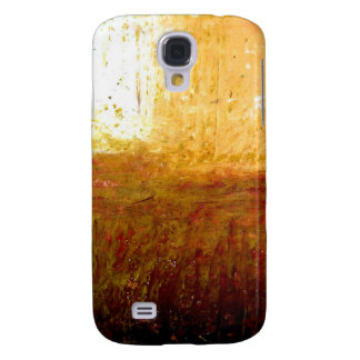 Yellow Brown Abstract Galaxy S4 Case