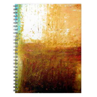 Yellow Brown Abstract Spiral Notebooks