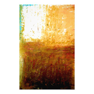 Yellow Brown Abstract Stationery