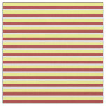 [ Thumbnail: Yellow, Brown, and Lavender Stripes Fabric ]