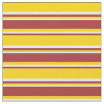 [ Thumbnail: Yellow, Brown, and White Colored Lines Fabric ]