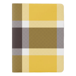 Yellow/Brown/Beige Plaid Large Custom Journal