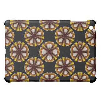 yellow brown circle pern case for the iPad mini