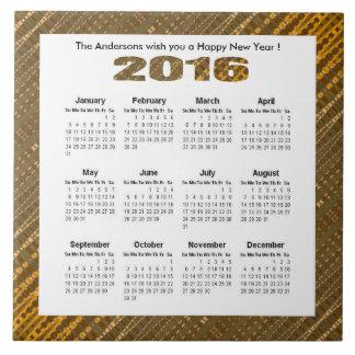Yellow Brown Glow 2016 yearly calendar Tile