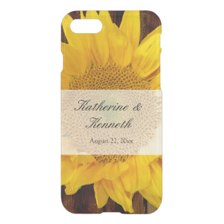 Yellow Brown Late Summer Sunflower Wedding iPhone 8/7 Case