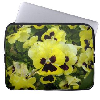 Yellow_Brown_Pansies,_13_Inch_Laptop_Sleeve Laptop Sleeve