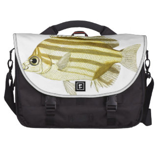 Yellow & Brown Stripe Tropical Fish no.3 Bag For Laptop