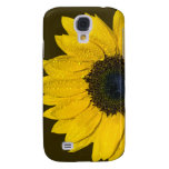 Yellow Brown Sunflower Floral Samsung Galaxy S4 Cases