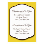 Yellow Brown & White Wedding Guest Reference Card Business Cards