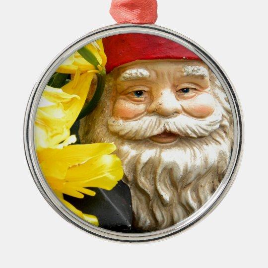 Yellow Brushes Metal Ornament