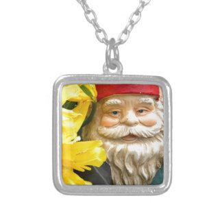Yellow Brushes Square Pendant Necklace
