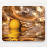 Yellow bubblered background mouse pads