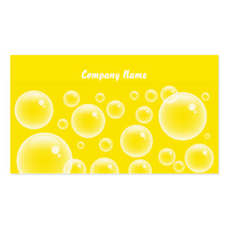 Yellow Bubbles, Company Name Business Card Templates