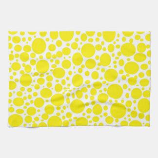 Yellow Bubbles Kitchen Towel