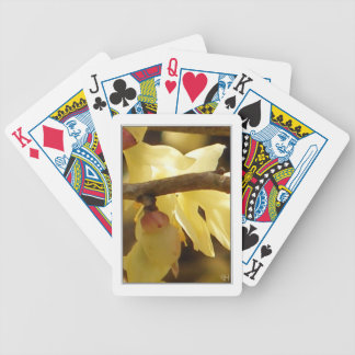 Yellow Bud Bicycle Playing Cards