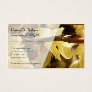 Yellow Bud Business Card