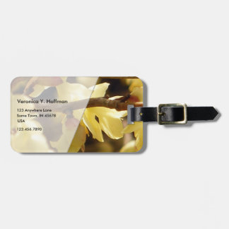 Yellow Bud Tag For Luggage