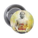 yellow buddha, I am inSILENCE Button