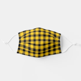 Yellow Buffalo Country Lumberjack Plaid Cloth Face Mask