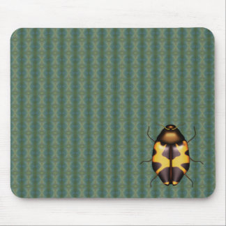 Yellow bug with dark spots mouse pad