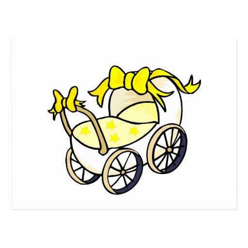 Yellow Buggy Postcard