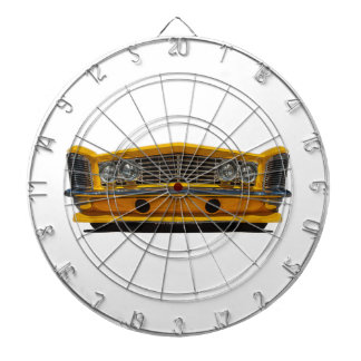 Yellow Buick Dartboard