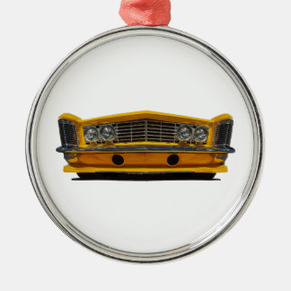 Yellow Buick Metal Ornament