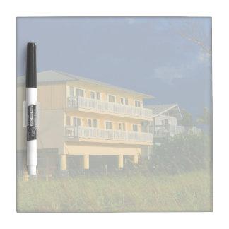 yellow building beach homes sat Dry-Erase whiteboard