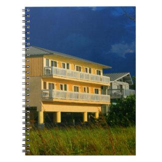 yellow building beach homes sat notebook