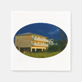 yellow building beach homes sat disposable napkins