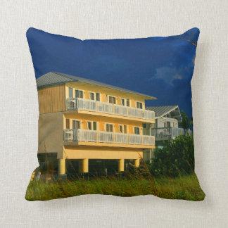 yellow building beach homes sat throw pillows
