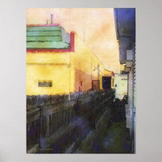 Yellow Building Print