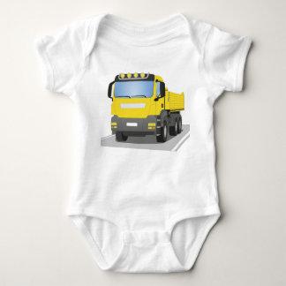 yellow building sites truck baby bodysuit