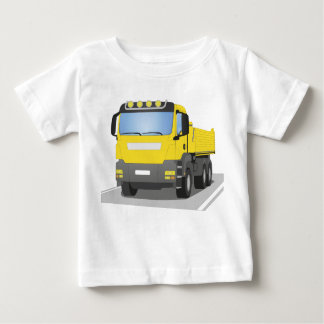 yellow building sites truck baby T-Shirt